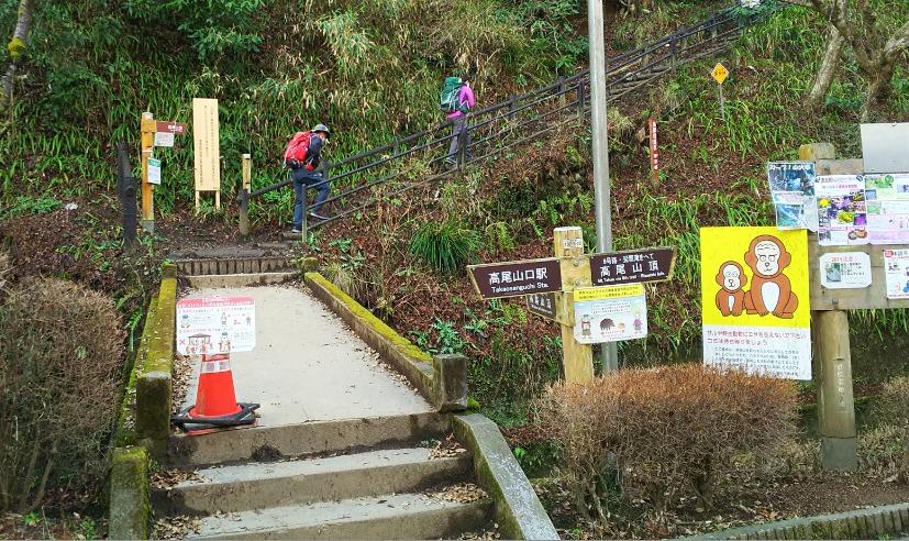 稲荷山コースの入口