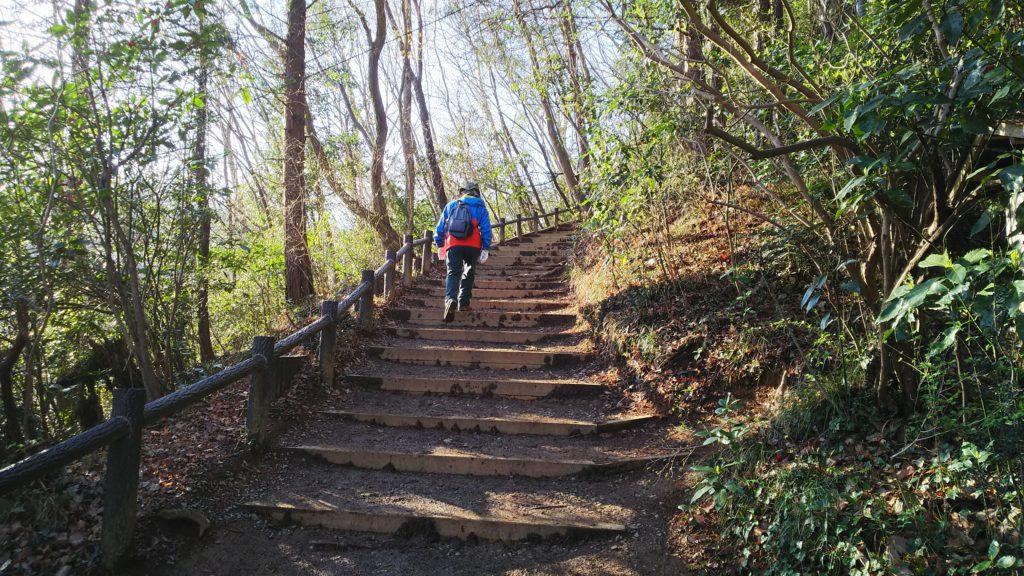 稲荷山 階段状の坂道